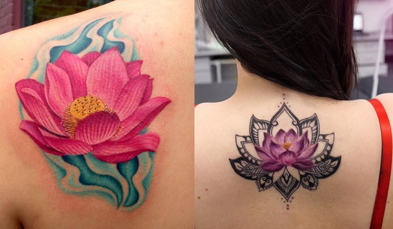 Blooming Lotus Tattoos For Women