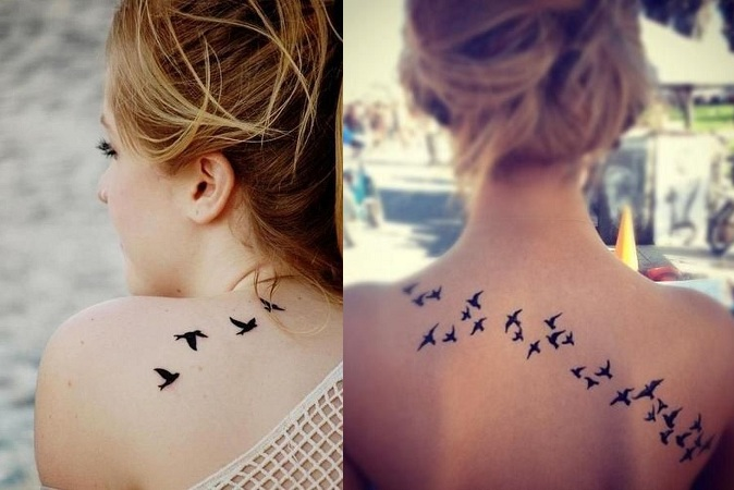 Favourite Style Flying Bird Tattoo