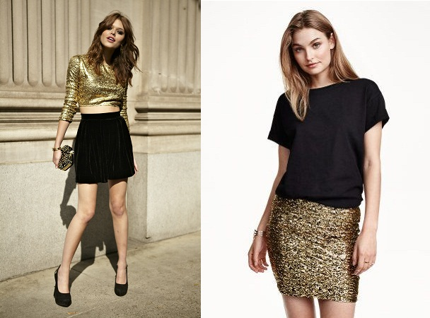 Glitzy Skirt And Top
