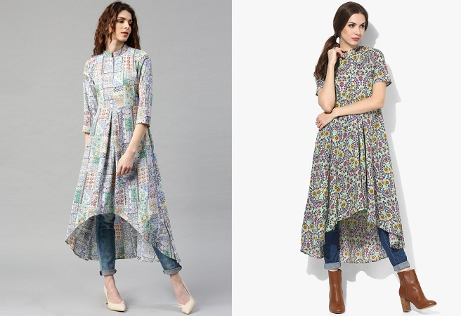 High Low Hem Kurtis Pattern